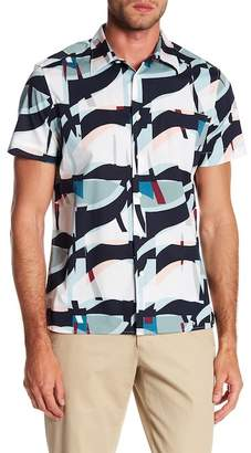 Perry Ellis Oversize Geometric Short Sleeve Stretch Fit Shirt