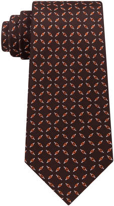 Sean John Men's Bicolor Check Silk Tie