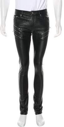 Saint Laurent D02 Faux Leather Pants
