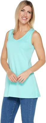 Isaac Mizrahi Live! Essentials V-Neck Tunic Tank Top