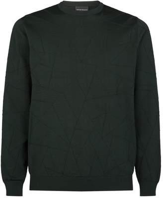 Emporio Armani Embroidered Triangle Sweater