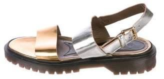 Marni Metallic Slingback Sandals