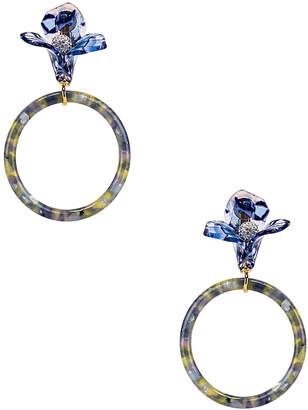 Lele Sadoughi Trillium Hoop Earrings in Citron | FWRD