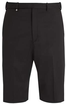 Neil Barrett Mid Rise Straight Leg Twill Tailored Shorts - Mens - Black