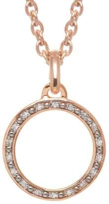 Lola Rose London - Curio Diamond Mini Loop Charm Necklace Rose Gold