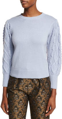Co Cable-Sleeve Wool-Cashmere Pullover