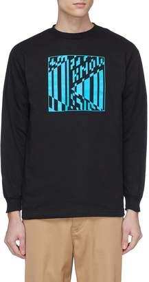 Know Wave 'At Large' logo print long sleeve T-shirt