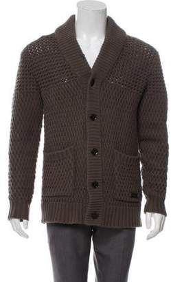 Burberry Wool & Cashmere-Blend Cable Knit Cardigan wool Wool & Cashmere-Blend Cable Knit Cardigan