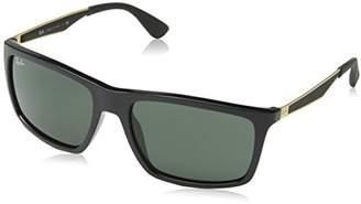 Ray-Ban INJECTED MAN SUNGLASS - Frame DARK GREEN Lenses 58mm Non-Polarized