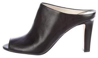MICHAEL Michael Kors Leather Peep-Toe Mules