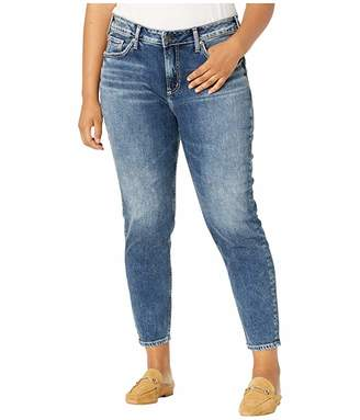 Silver Jeans Co. Plus Size Avery High-Rise Curvy Fit Skinny Jeans in Indigo W94116SCP306