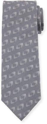 Giorgio Armani Solid Geometric Silk Tie