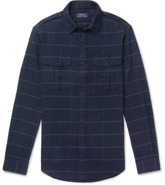 Polo Ralph Lauren Checked Brushed Cotton-Flannel Overshirt