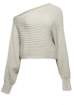 Alexander Wang Asymmetrical Cropped Pullover