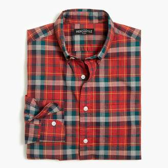 Mercantile Classic flex heather washed shirt in plaid