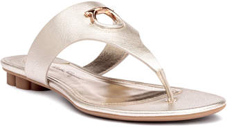 Salvatore Ferragamo Enfola metallic leather sandals