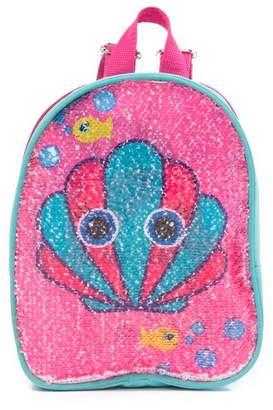 Confetti Mermaid & Seashell Flip Sequin Backpack