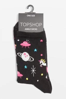Space unicorn socks