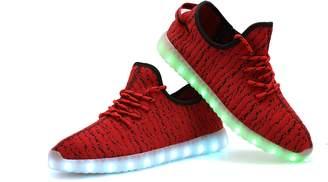 OUYAJI LED Light up 11Mode Flashing shoes walking riding dancing USB Rechargable sneaker for men women couples kids Valentine's Day gift 39