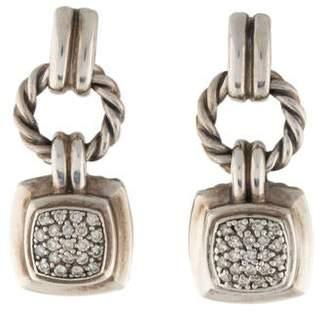 David Yurman Diamond Petite Albion Drop Earrings