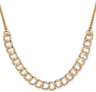 Wrapped in Love Diamond Curb-Link Bolo Necklace (1 ct. t.w.) in 10k Gold