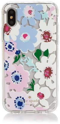 Kate Spade Jeweled Daisy Garden Clear iPhone X Case