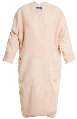 Märit Ilison - Reversible Floral Jacquard Cotton Chenille Coat - Womens - Pink White