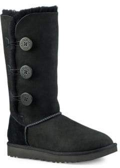 UGG Classic Bailey Button Triplet II Suede Boots
