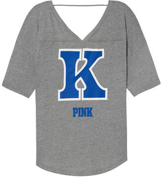 PINK University of Kentucky Boyfriend Open Back V-Neck Tee