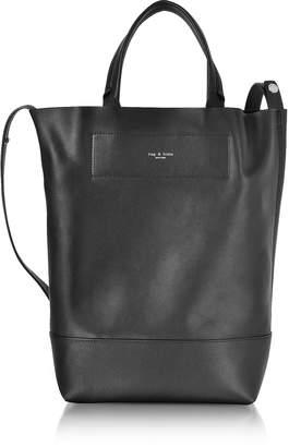 Rag & Bone Black Leather Walker Convertible Tote Bag