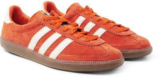 adidas Consortium Consortium - SPEZIAL Whalley Leather-Trimmed Suede Sneakers - Men - Orange