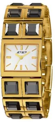 Jet Set J 43608-712-Beverly Hills Women's Watch Analogue Quartz White Dial Steel Bracelet-Gold