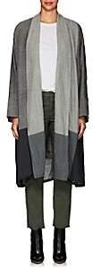 Pas De Calais Women's Mixed-Stitch Wool Voile Coat - Gray