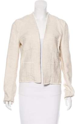L'Agence Linen-Blend Open-Front Jacket