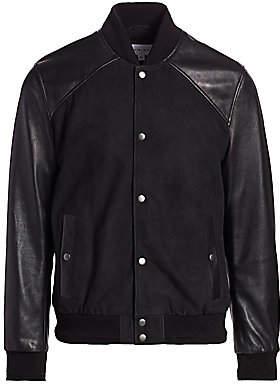 Nominee Men's Leather & Suede Bomber Jacket