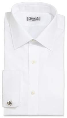 Charvet Solid Poplin Dress Shirt, White