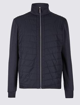 Marks and Spencer Cotton Rich Quilted Zip Through
