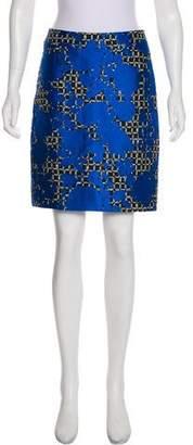 Balenciaga Jacquard Pencil Skirt