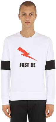 Neil Barrett Just Be Cotton Jersey Sweatshirt