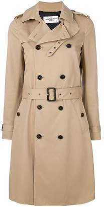 Saint Laurent belted classic trench coat