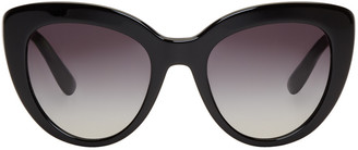 Dolce & Gabbana Black Cat-Eye Sunglasses $295 thestylecure.com