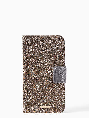 Kate Spade Glitter wrap iphone x folio case