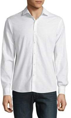 Black & Brown Black Brown Printed Button-Down Shirt