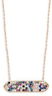 Lord & Taylor Candy Stone Bar Necklace