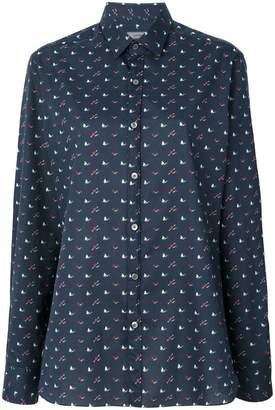 Lanvin clubs, hearts and spades print shirt