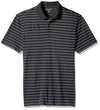 Amazon Essentials Men's Slim-Fit Quick-Dry Stripe Golf Polo Shirt