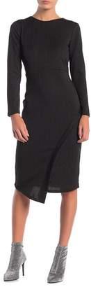 Spense Long Sleeve Lurex Midi Dress