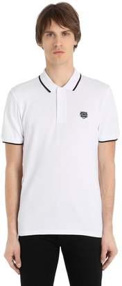 Kenzo Embroidered Cotton Piqué Polo Shirt