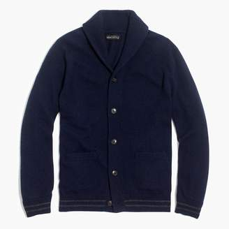 J.Crew Ribbed contrast cardigan in supersoft wool blend