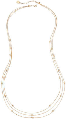 Liz Claiborne Gold-Tone 3-Row Layered Necklace